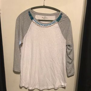 J. Crew jeweled baseball tee